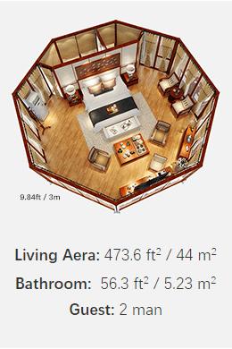 Octagonal Lodge Tent