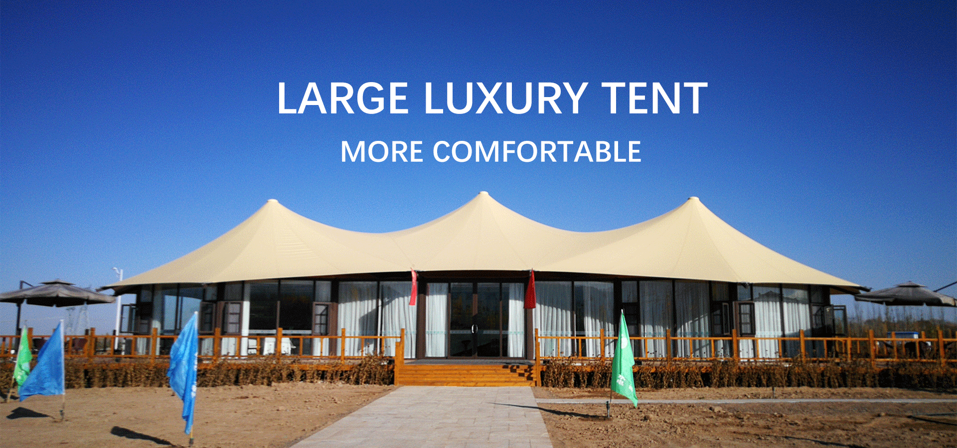 multi-side luxury glamping tent