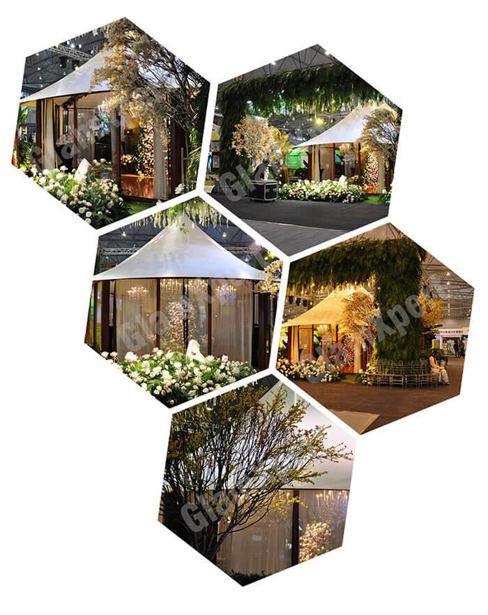 Glamping Tent at Fashinon Week Activity