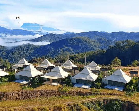 aman resort tent