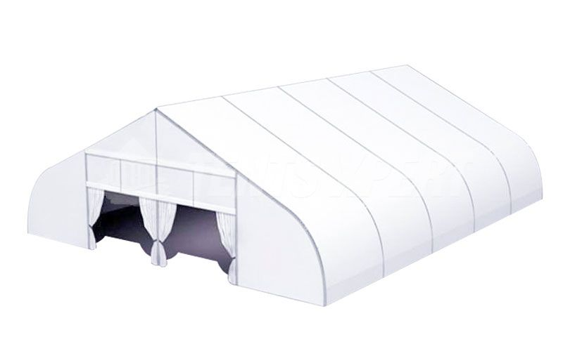 big curved tent