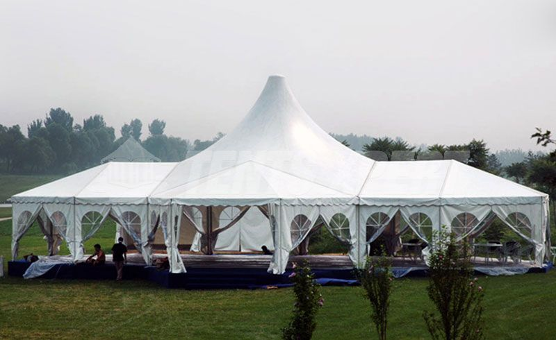 White PVC Marquee High Peak Tent for Event