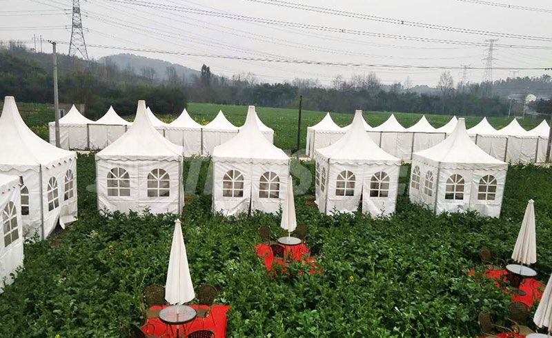 aluminum pagoda tent