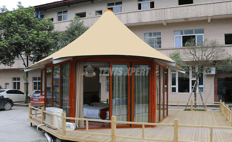 hexagonal resort tent