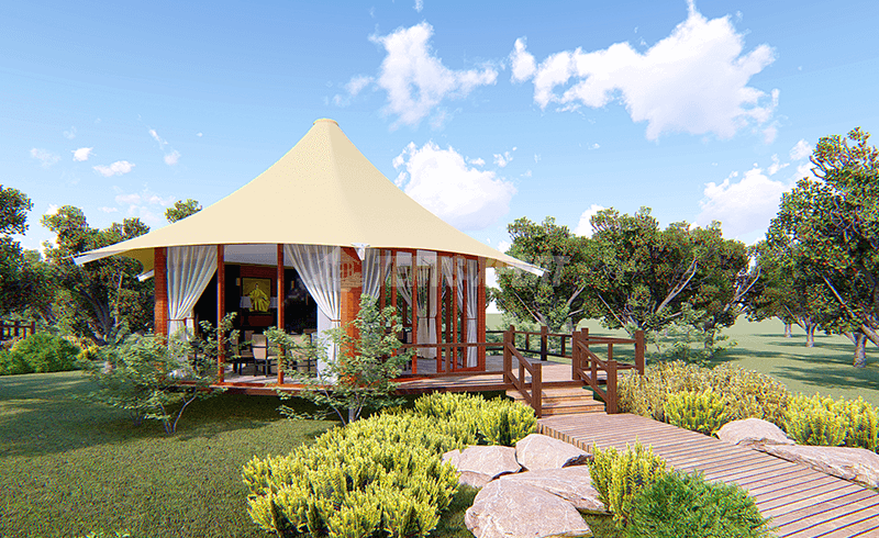 Octagonal Glamping Lodge Tent for Sale