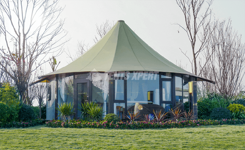hexagonal luxury tent