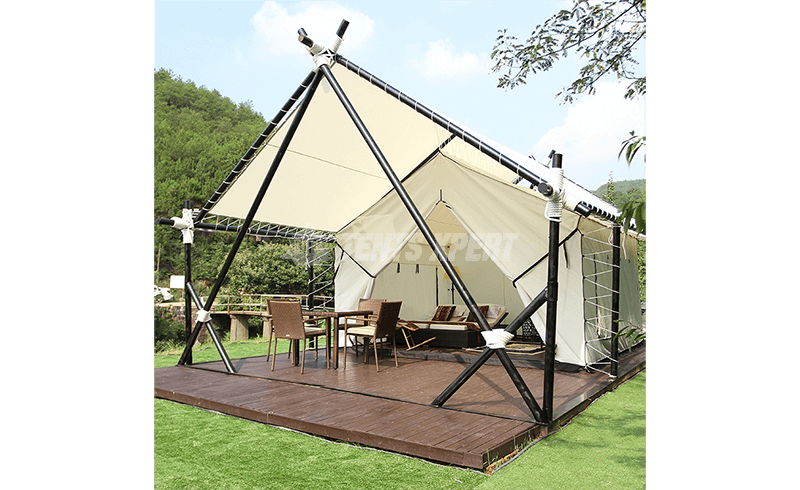 canvas glamping safari tent