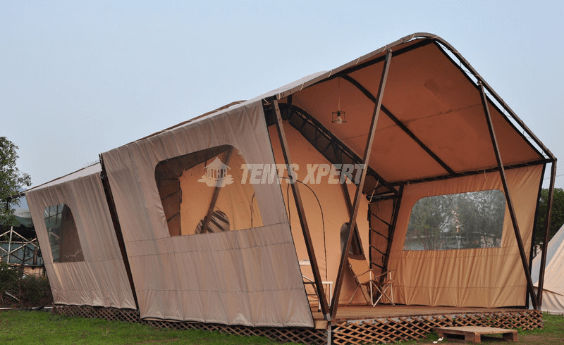 luxury glamping safari tents