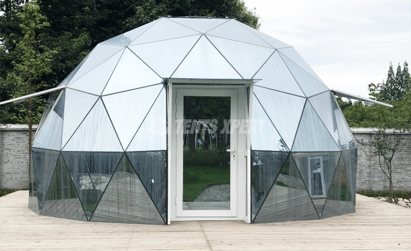 geodesic glass dome tent