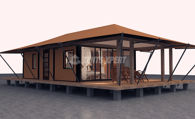ultra luxury glamping tent