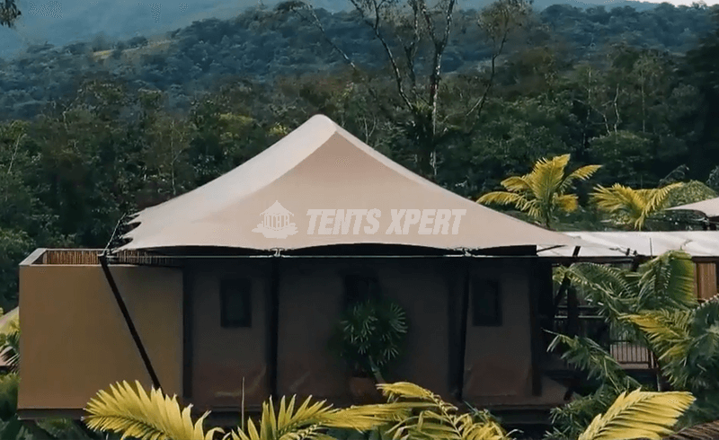 high end glamping tent