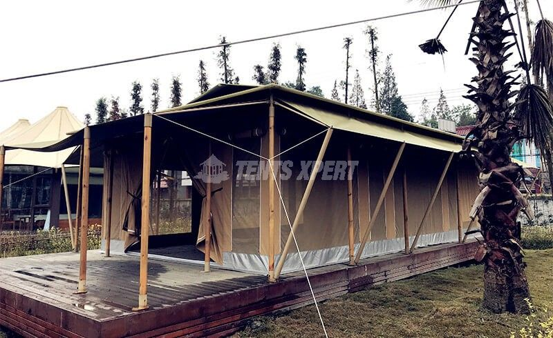 big canvas glamping tent