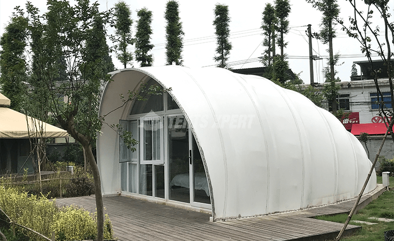 permanent glamping tent