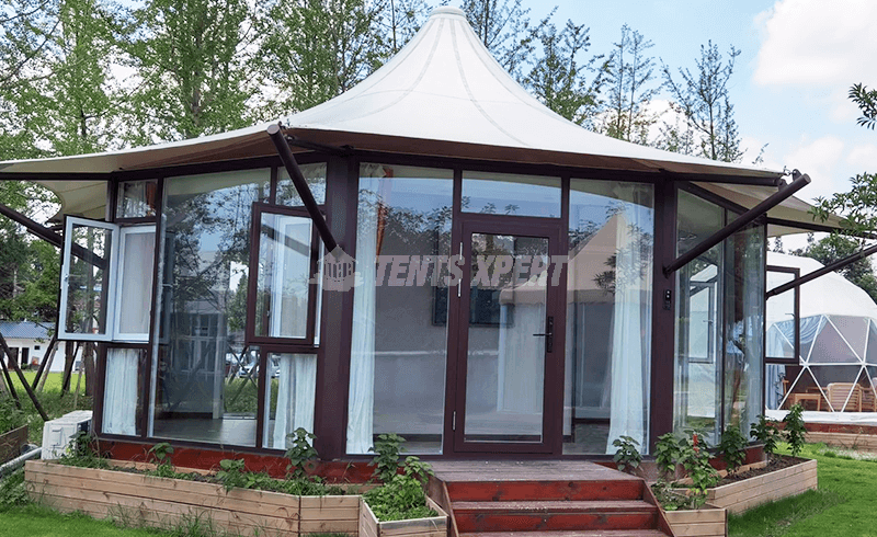 Luxury Tents - Octagonal Glamping Lodge Tent