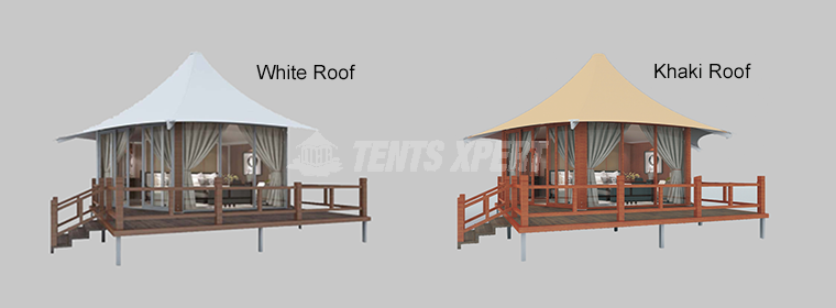Two Color of Luxury Lodge Tent Roof