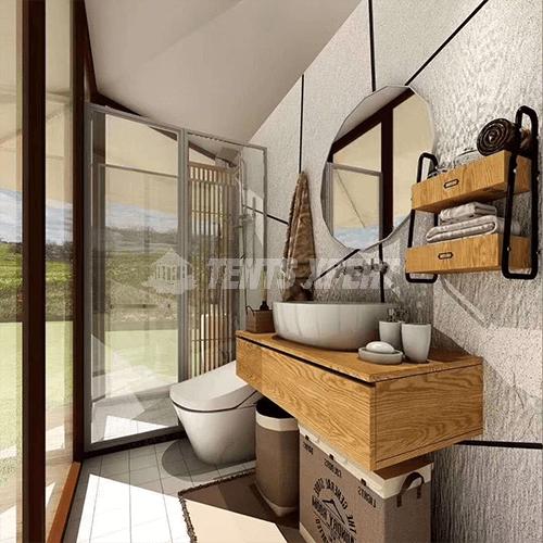 luxury tent with bathroom