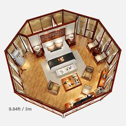 3m side length Octagonal Resort Lodge Tent
