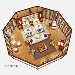 4m side length Octagonal Resort Lodge Tent