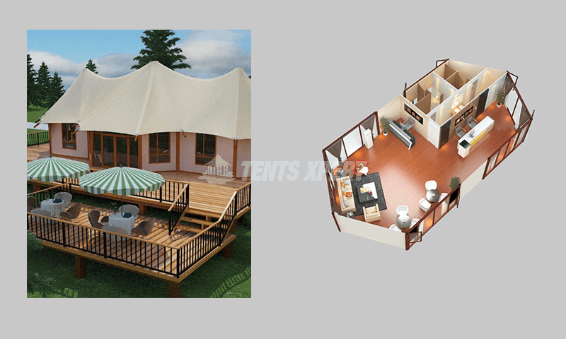 large glamping tent for your buseiness