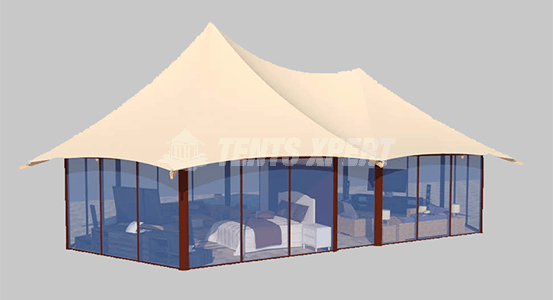 buy a large glamping tent for our pleasure