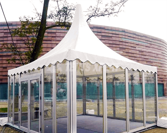 Pagoda Tent Glass Sidewall