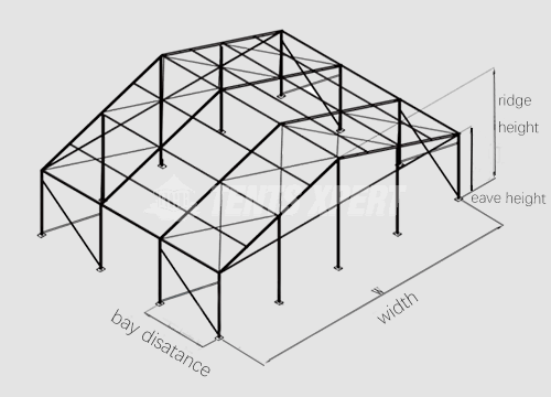 Big A-frame Tent aluminum structure