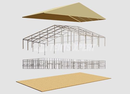 PVC Span A-frame Tent
