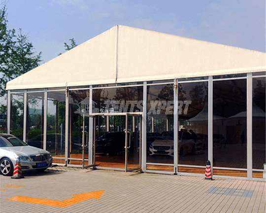 A-frame Tent glass sidewall