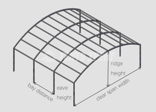 Clear Span Arcum Tent framework