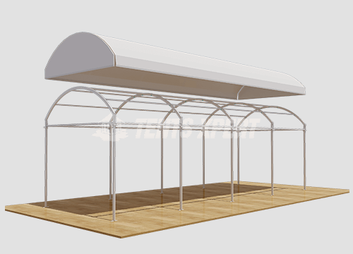 Clear Span Arcum Tent PVC Roof