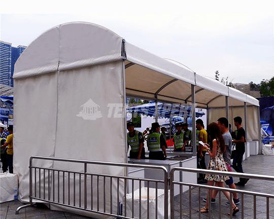 Clear Span Arcum Tent PVC Sidewall