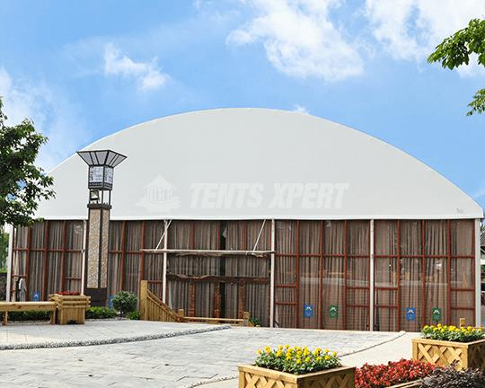 Clear Span Arcum Tent Glass Sidewall