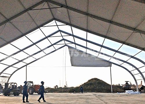 Aluminum Framework Curved Tent