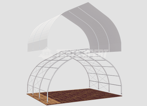 PVC Curved Structure Tent