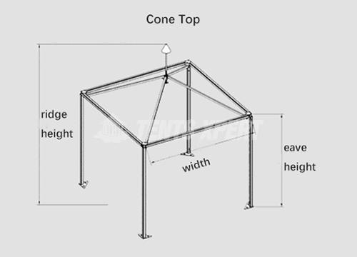 Standard PVC Cone-top Tent Aluminum Framework