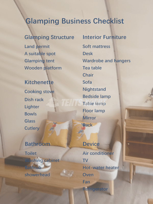 Glamping Business Checklist