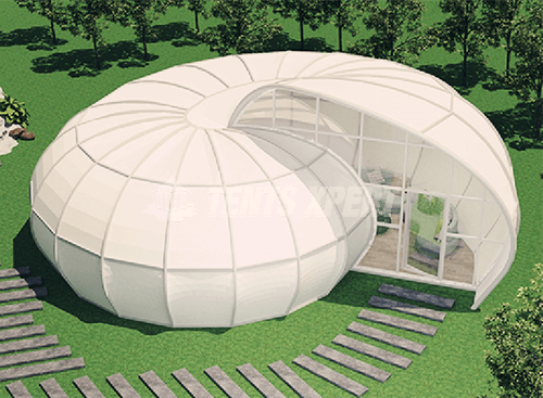 Shell-shaped Glamping Tent for Glamping Site