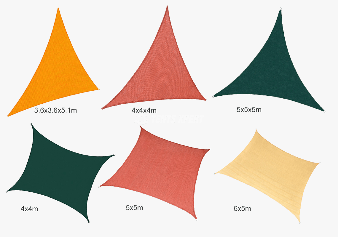 Sun Shade Cloth Size and Shape