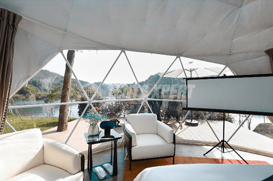 Glamping Dome Interior decoration - 04