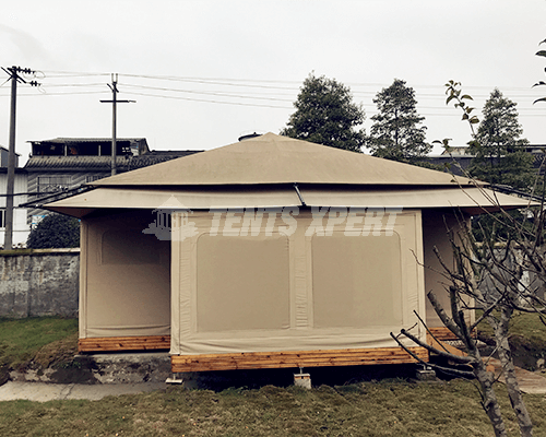 Canvas Glamping Tent sidewall 03