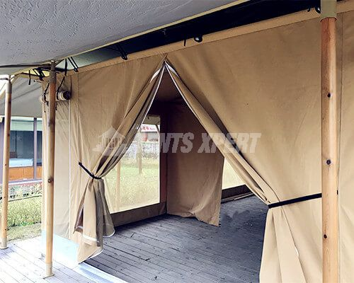 Large Canvas Safari Tents Door