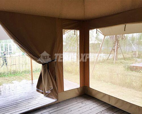 Large Canvas Safari Tents Window