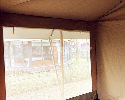 Large Canvas Safari Tents gauze window