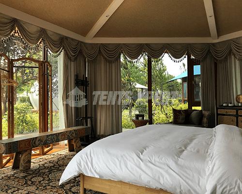 Luxury Tent - Hexagonal Glamping Lodge Tent